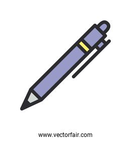pen line and fill style icon vector design
