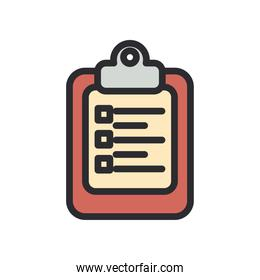 document board with options line and fill style icon vector design