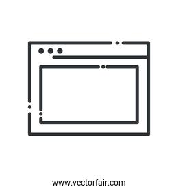 website page line style icon vector design