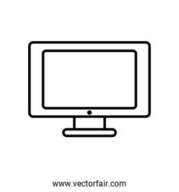 computer monitor icon, line style