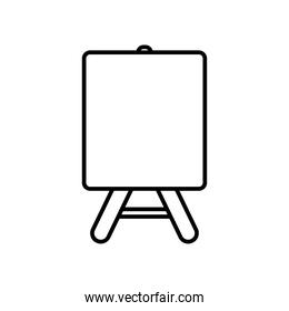 paint canva icon, line style