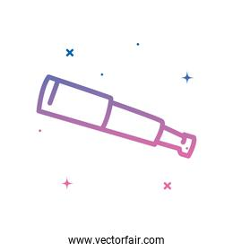 telescope gradient style icon vector design