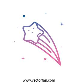 shooting star gradient style icon vector design