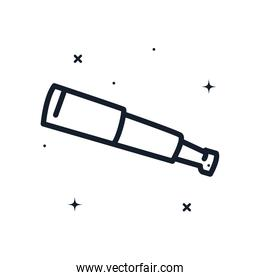 telescope line style icon vector design