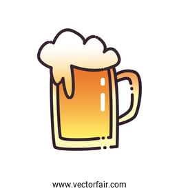 beer glass fill and gradient style icon vector design