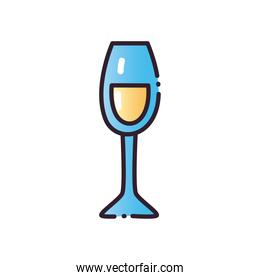 champagne cup fill and gradient style icon vector design