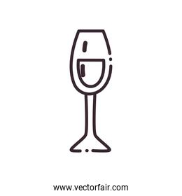 champagne cup line style icon vector design