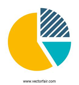 graphic pie chart icon, flat style