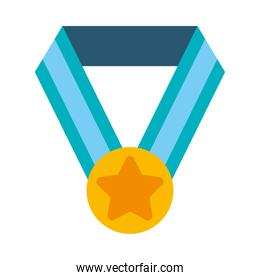 winners medal icon, flat style