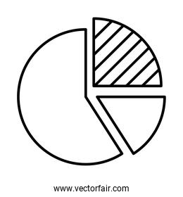 graphic pie chart icon, line style