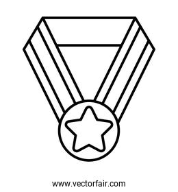 winners medal icon, line style