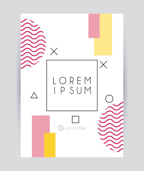 square frame in abstract banner modern poster