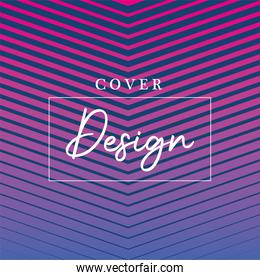 Blue pink gradient and striped background vector design