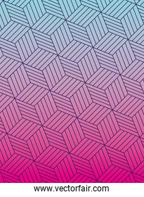 Blue pink gradient and pattern vector design