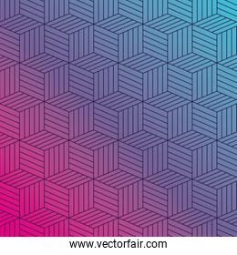 Blue pink gradient and pattern background vector design