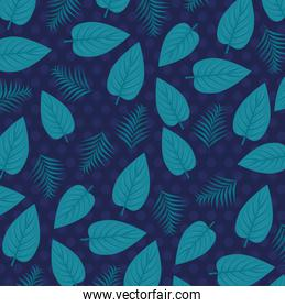 tropical background with jungle plants, decoration with tropical leaves
