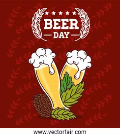 international beer day, august, beers and hop seed