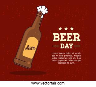international beer day, august, with bottle beer