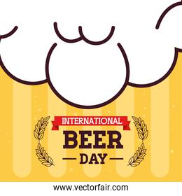 banner, of international beer day, august celebration