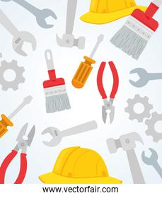 wallpaper with tools construction equipments