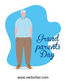 happy grand parents day with cute grandfather