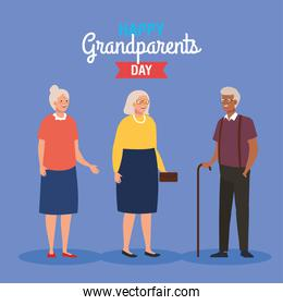 happy grand parents day with cute older people
