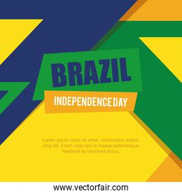 banner of brazil independence celebration