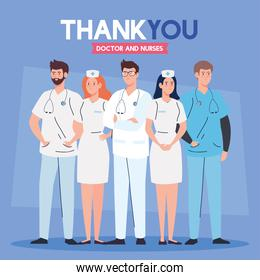 thank you doctors and nurses working in hospitals, fighting the coronavirus covid 19