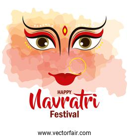 poster of happy navratri celebration