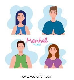 mental health concept, people with healthy mind
