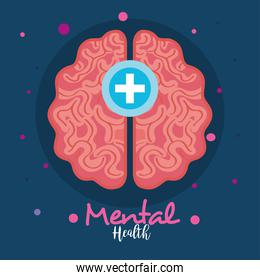 mental health concept, with brain