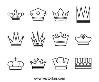 bundle of crowns royal set icons