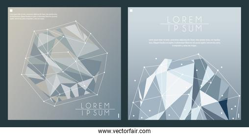 gray color polygonal space background