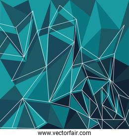 green color polygonal space background