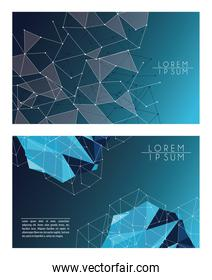 blue color polygonal space background