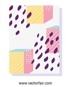 memphis 80s 90s style abstract geometric shape for brochure cover template