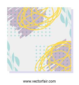 retro style texture memphis 80s 90s style abstract white background
