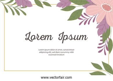wedding invitation decorative minimalistic and floral template greeting card or announcement