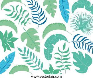 tropical leaves exotic palm pattern layout template
