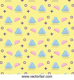 abstract geometric background graphic design memphis seamless pattern 80s 90s style