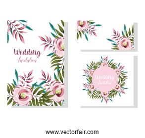 wedding ornament floral bloom decorative greeting card or invitation