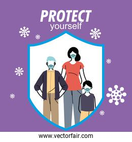 family safely protected from the virus