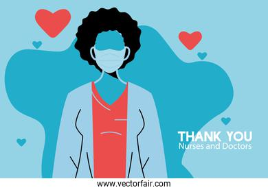 Thanks to the doctors who work in hospitals and fight coronavirus