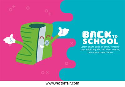 sharpener cartoon of back to school vector design