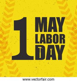 happy labor day celebration with lettering
