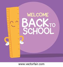 back to school cartel, colorful welcome back to school template, rule