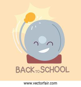back to school banner, colorful back to school template, school bell