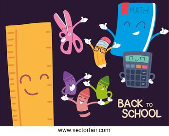 back to school banner, colorful back to school template