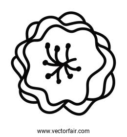 chinese flower line style icon vector design