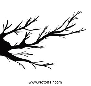 branches tree silhouette vector design
